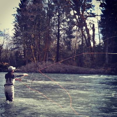 spey-casting/steelhead/lisa schweitzer/woman fly-fishing