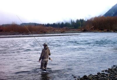 Lisa Schweitzer Hoh River Fly Fishing Winter Steelhead
